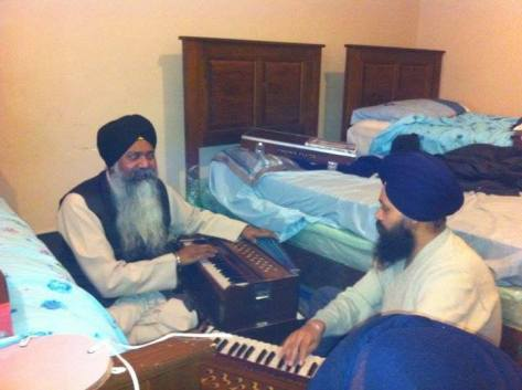 Bhai Gurmeet Singh Ji Shant practicing with Dr.Gurinder Singh Ji.